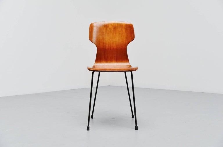 Italian Carlo Ratti Side Chair in Plywood by Legni Curva, Italy, 1950 For Sale