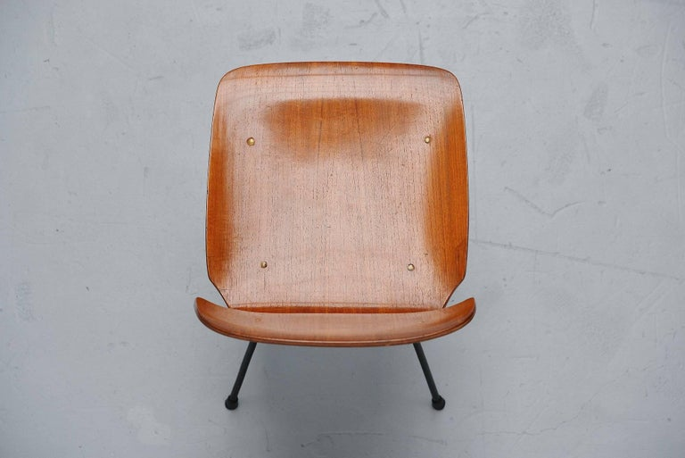 Mid-20th Century Carlo Ratti Side Chair in Plywood by Legni Curva, Italy, 1950 For Sale