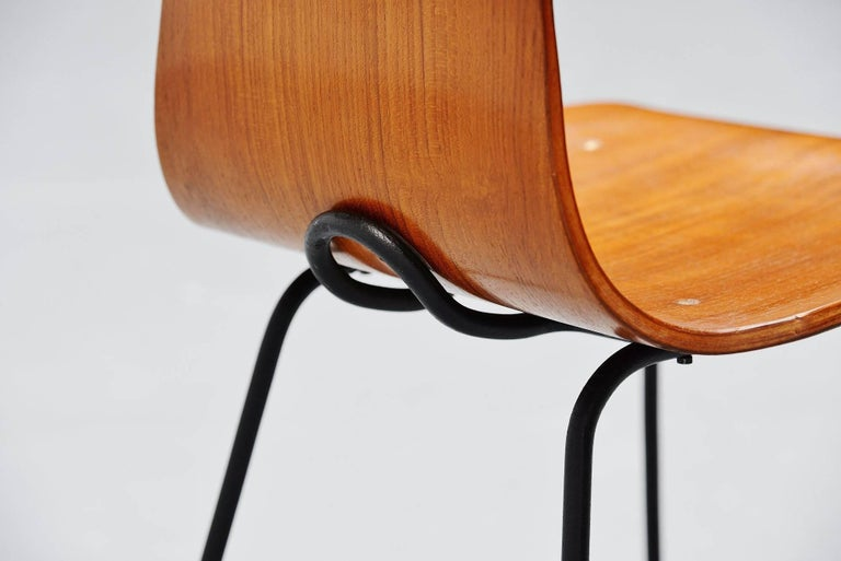 Mid-Century Modern Carlo Ratti Side Chair in Plywood by Legni Curva, Italy, 1950 For Sale