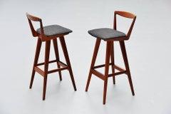 Henry Rosengren Hansen bar stools Brande Møbelindustri 1960