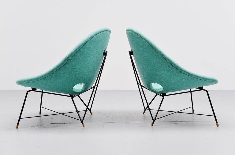 Augusto Bozzi Cosmos Lounge Chairs Saporiti Italia, 1954 For Sale 1
