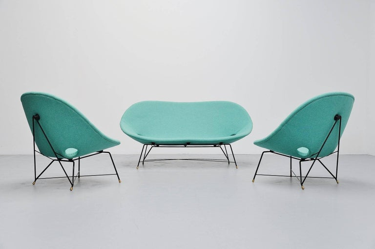 Augusto Bozzi Cosmos Lounge Chairs Saporiti Italia, 1954 For Sale 3