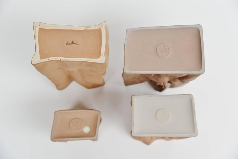 Porcelain Tapio Wirkkala Paper Bag Vases Rosenthal, Germany, 1977 For Sale