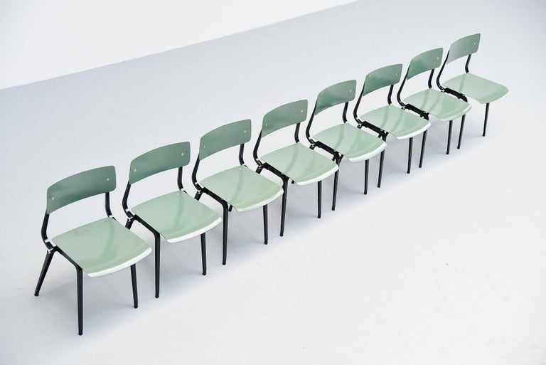 Dutch Friso Kramer Revolt Folding Chairs for Ahrend de Cirkel 1953 For Sale