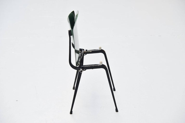 Mid-20th Century Friso Kramer Revolt Folding Chairs for Ahrend de Cirkel 1953 For Sale