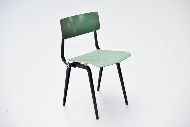 Cold-Painted Friso Kramer Revolt Folding Chairs for Ahrend de Cirkel 1953 For Sale