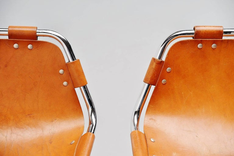 Mid-Century Modern Les Arcs Bar Stools Used by Charlotte Perriand, 1960 For Sale