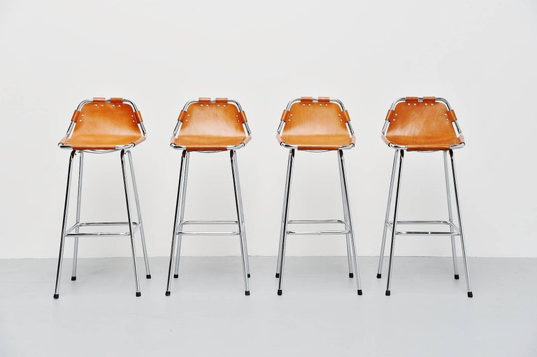 Mid-20th Century Les Arcs Bar Stools Used by Charlotte Perriand, 1960 For Sale