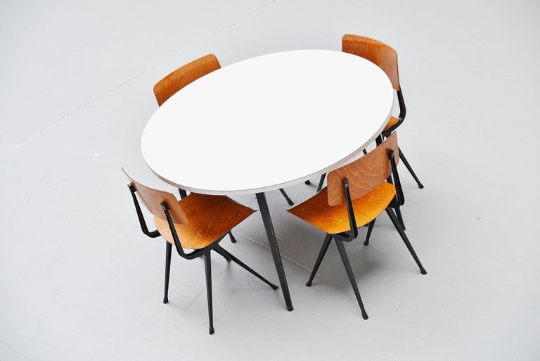 Mid-20th Century Friso Kramer Round Reform Table Ahrend de Cirkel, 1955 For Sale