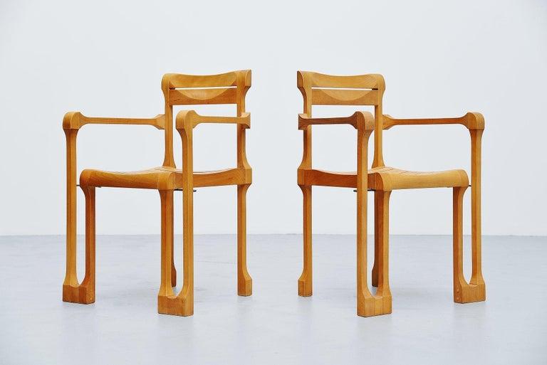 Mid-Century Modern Ruud Jan Kokke Armchairs Holland 1990 For Sale