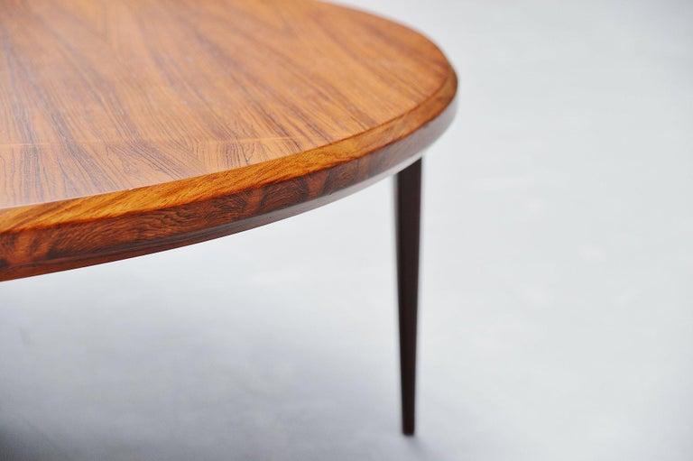 Rosewood Johannes Andersen Moon Shaped Coffee Table Silkeborg 1960 For Sale