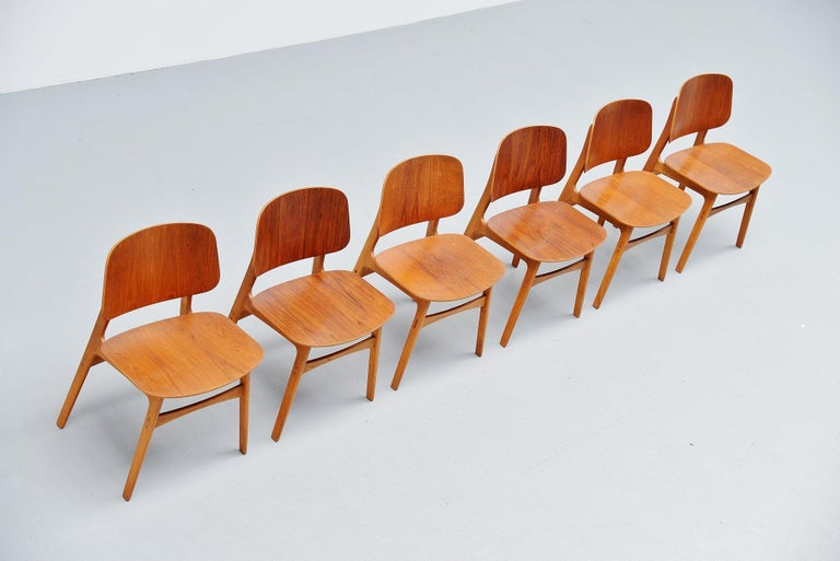 Danish Borge Mogensen Soborg Dining Chairs Denmark 1950 For Sale