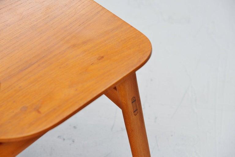 Beech Borge Mogensen Soborg Dining Chairs Denmark 1950 For Sale