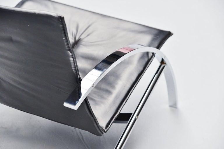 Mid-Century Modern Paul Tuttle Arco Lounge Chair Strassle Switzerland, 1976 For Sale