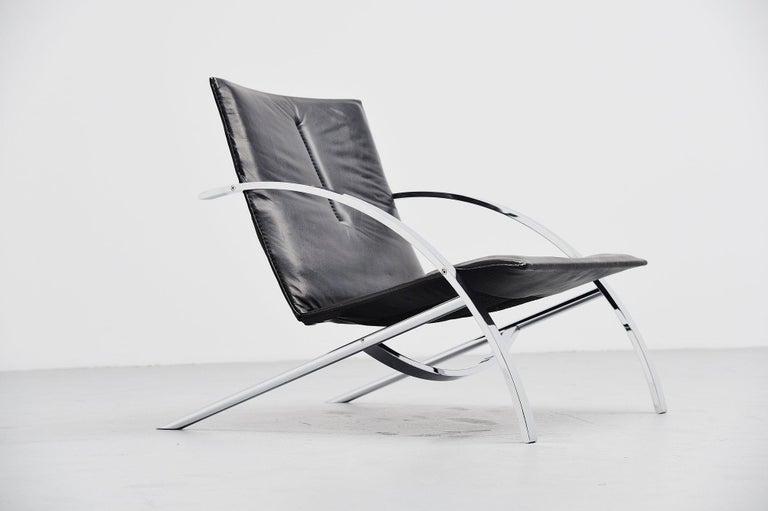 Swiss Paul Tuttle Arco Lounge Chair Strassle Switzerland, 1976 For Sale
