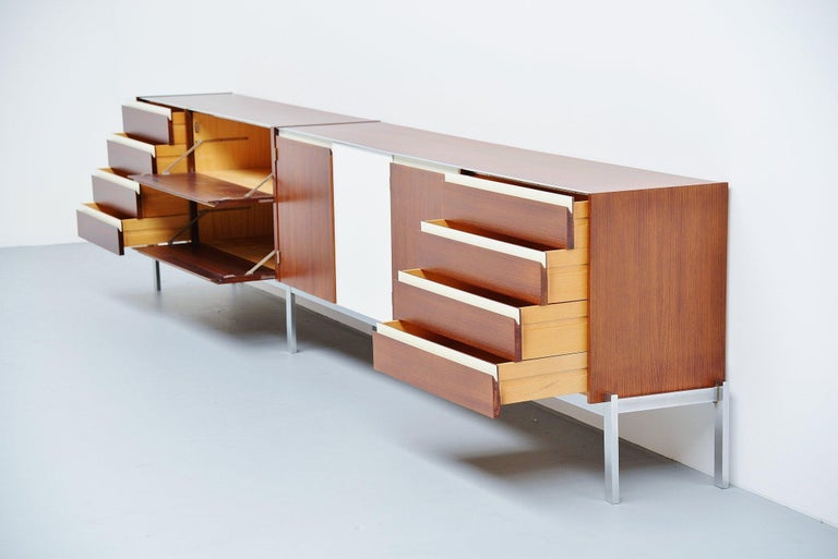 Veneer Kho Liang Ie Long Sideboard Wim Crouwel Fristho, 1957 For Sale