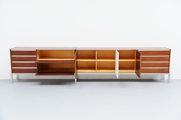 Mid-20th Century Kho Liang Ie Long Sideboard Wim Crouwel Fristho, 1957 For Sale