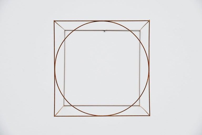 Mid-Century Modern Anne Rose Regenboog Cross Circle Cubes, Den Haag 2015 For Sale