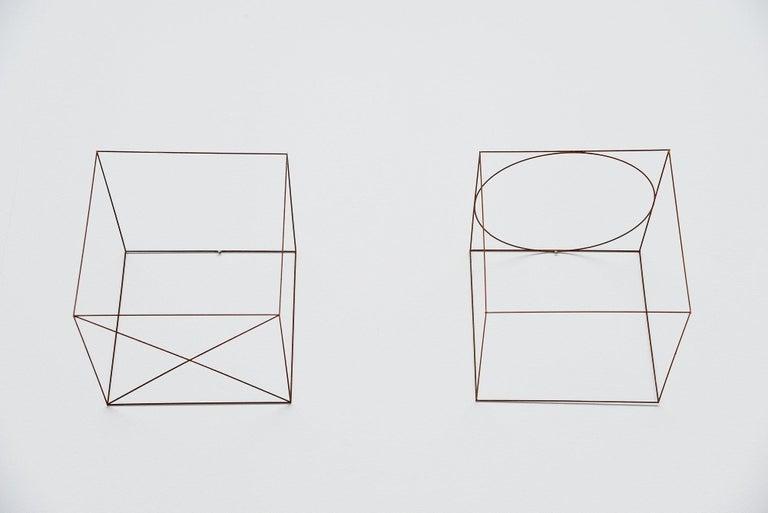 Steel Anne Rose Regenboog Cross Circle Cubes, Den Haag 2015 For Sale