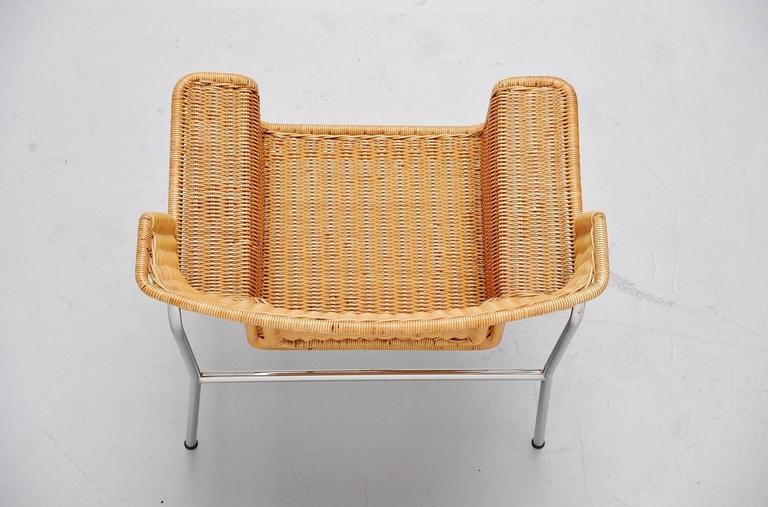 Steel Dirk van Sliedrecht armchair Rohe Noordwolde Holland 1969 For Sale