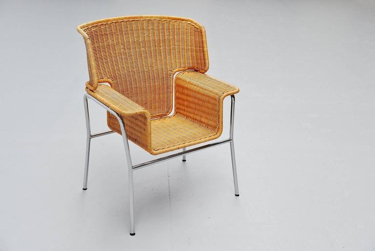 Dutch Dirk van Sliedrecht armchair Rohe Noordwolde Holland 1969 For Sale