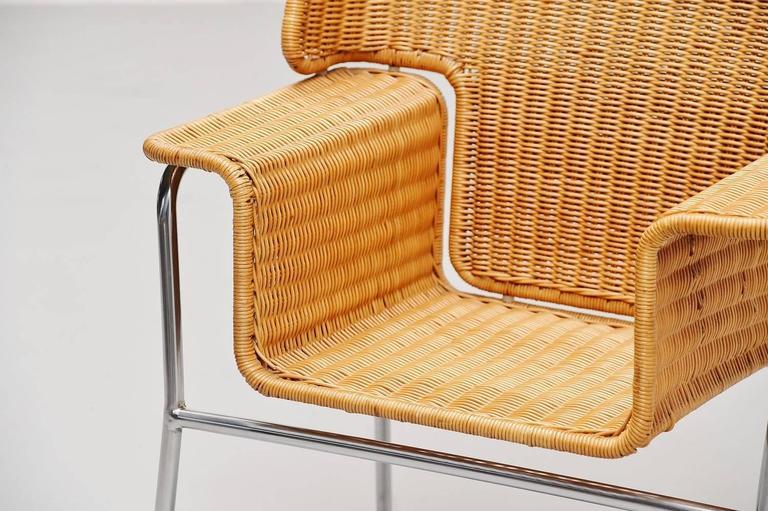 Brushed Dirk van Sliedrecht armchair Rohe Noordwolde Holland 1969 For Sale