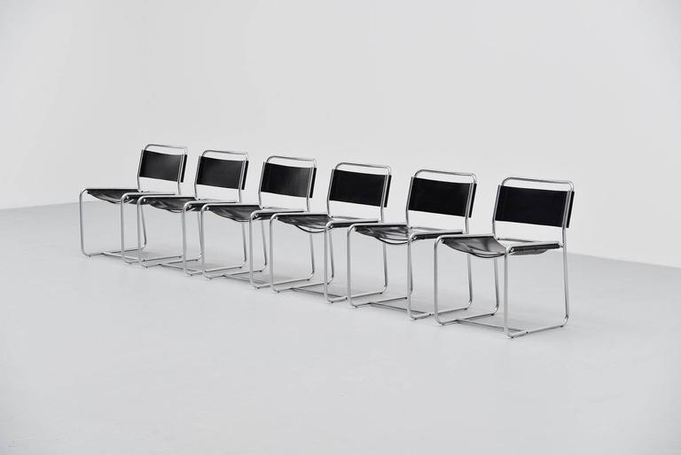 Dutch Claire Bataille & Paul Ibens dining chairs 't Spectrum 1971 For Sale