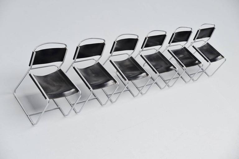 Claire Bataille & Paul Ibens dining chairs 't Spectrum 1971 6