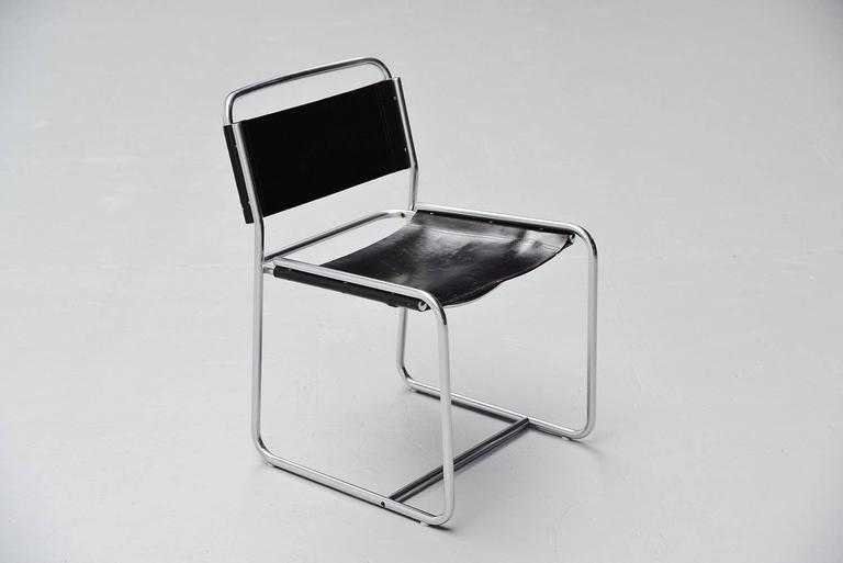 Claire Bataille & Paul Ibens dining chairs 't Spectrum 1971 For Sale 1