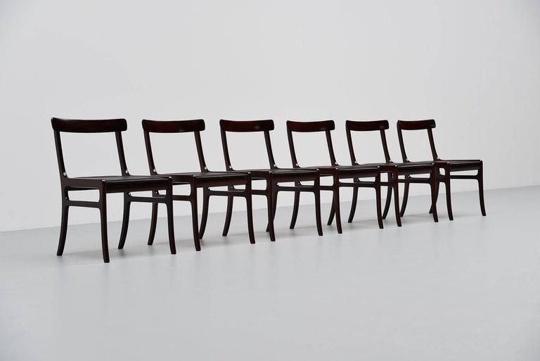 Ole Wanscher Rungstedlund chairs in Mahogany Denmark 1950 3
