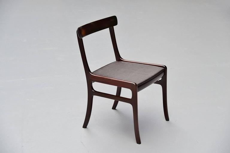 Ole Wanscher Rungstedlund chairs in Mahogany Denmark 1950 6