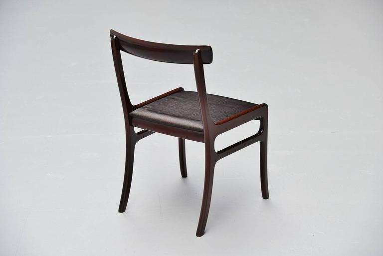 Ole Wanscher Rungstedlund chairs in Mahogany Denmark 1950 5