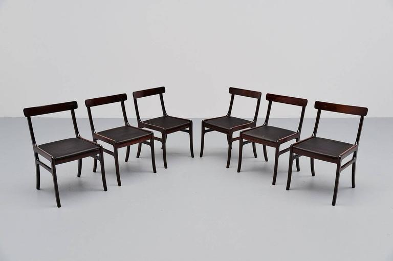 Ole Wanscher Rungstedlund chairs in Mahogany Denmark 1950 10