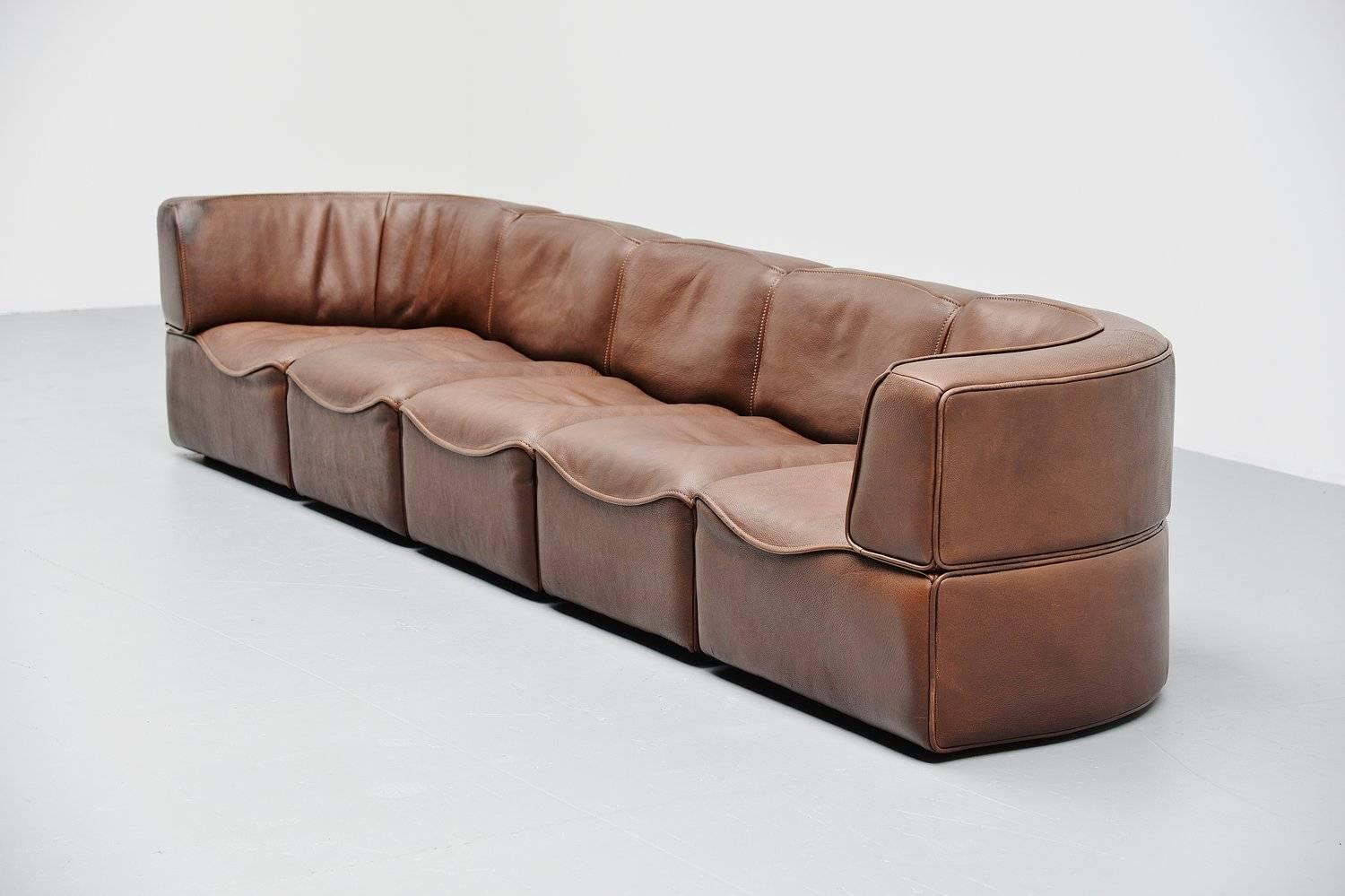 de sede ds15 element sofa in buffalo leather switzerland 1970 at 1stdibs. Black Bedroom Furniture Sets. Home Design Ideas