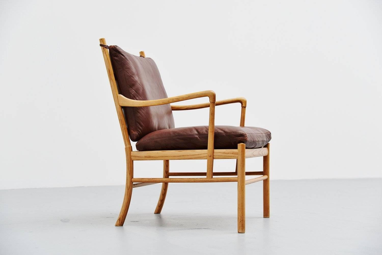 Ole wanscher colonial chair in oak p jeppesen denmark 1959 for P jeppesen furniture