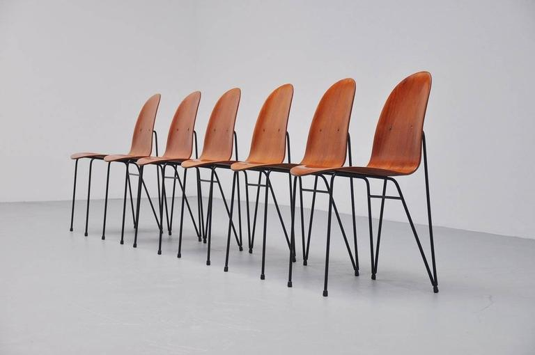Plywood Dinner Chairs Made in Italy, 1950 2