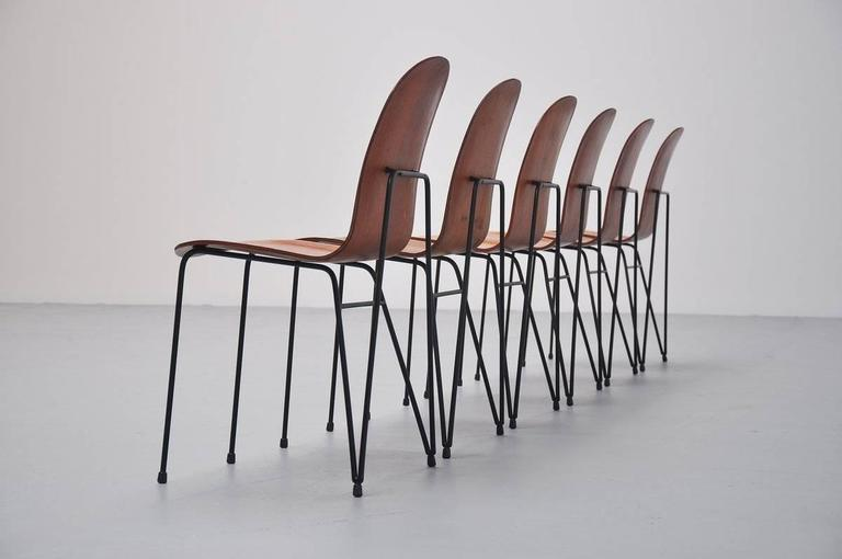 Plywood Dinner Chairs Made in Italy, 1950 5