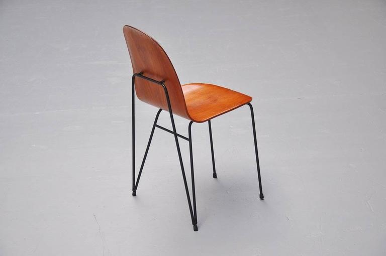Plywood Dinner Chairs Made in Italy, 1950 7