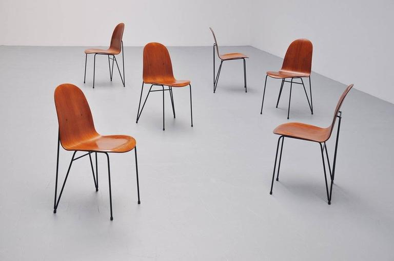 Plywood Dinner Chairs Made in Italy, 1950 10