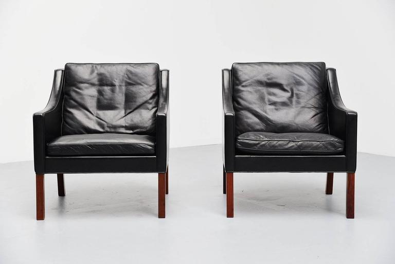 Borge Mogensen Fredericia Lounge Chairs Denmark 1963 For