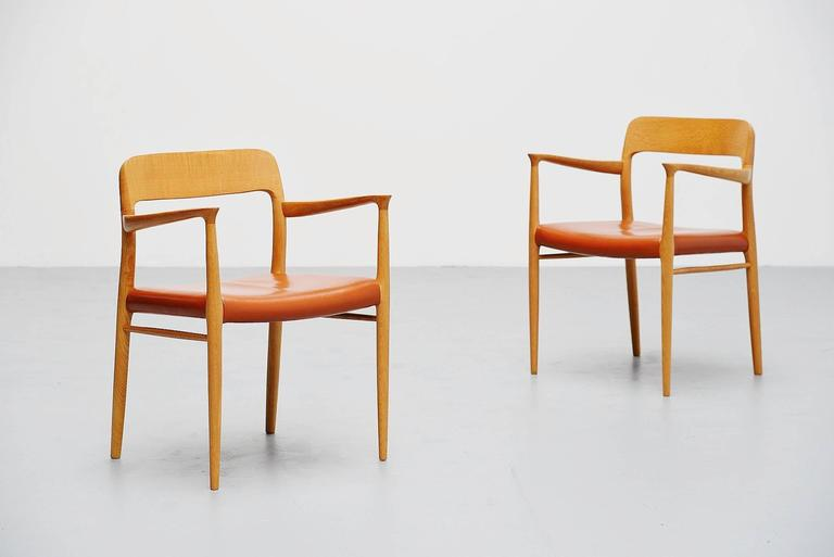 Niels Moller Model 56 Armchairs, Denmark, 1954 For Sale 1