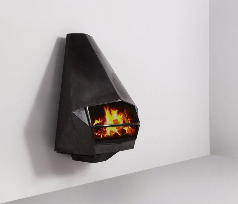 Diamond Shaped Steel Fire Place For Sale At 1stdibs
