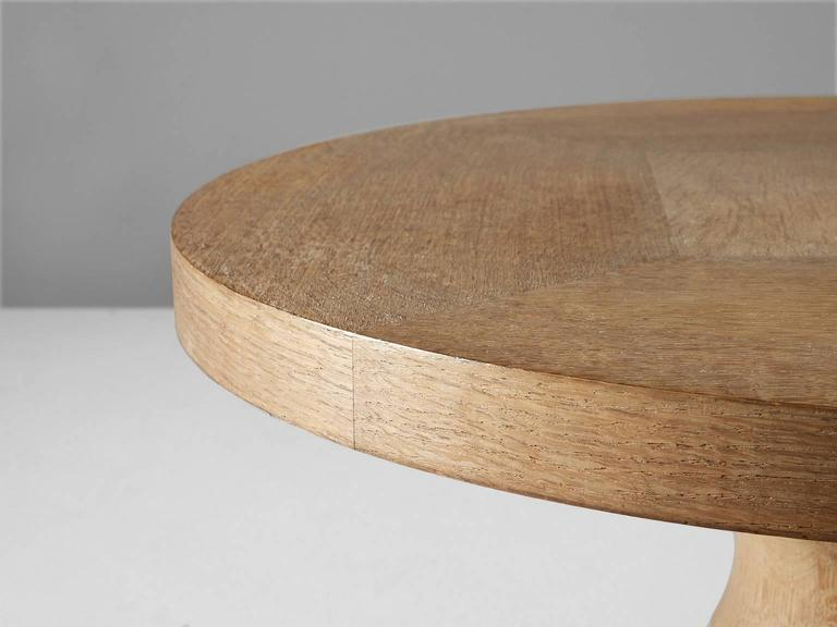 Round Coffee Table In Solid Oak For Sale At 1stdibs