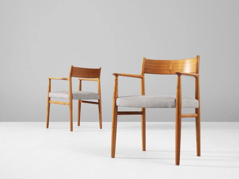 Arne Vodder Set of Six Dining Chairs in Walnut In Good Condition In Waalwijk, NL