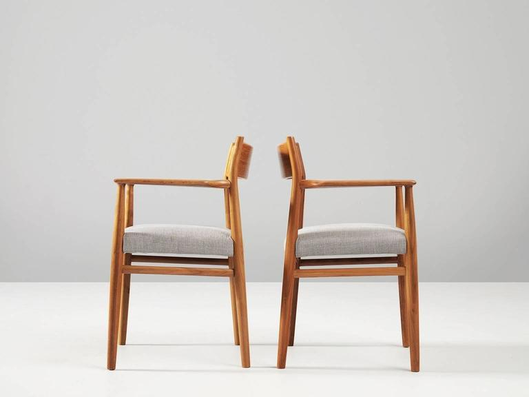 Mid-20th Century Arne Vodder Set of Six Dining Chairs in Walnut