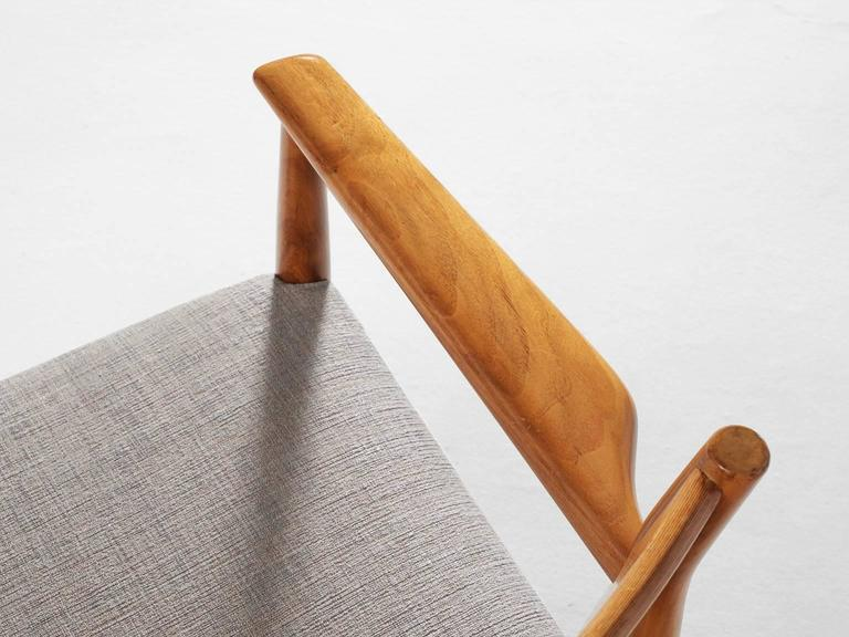 Fabric Arne Vodder Set of Six Dining Chairs in Walnut