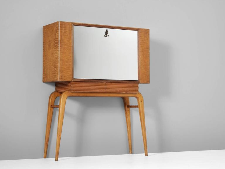 Mid-Century Modern Exceptional Italian Bar Cabinet For Sale
