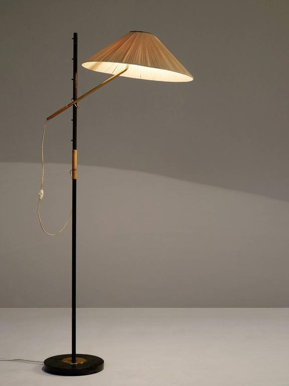 J.T. Kalmar 'Pelikan' Floor Lamp For Sale at 1stdibs