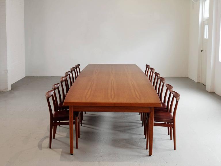 Scandinavian Modern Dining Table in Teak For Sale