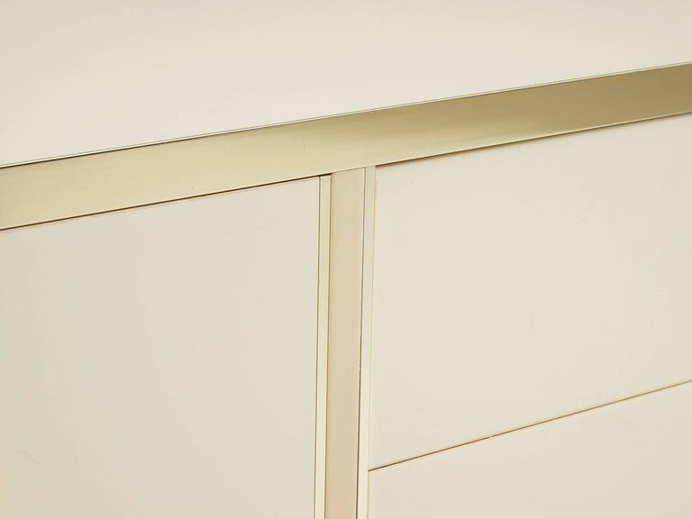 Lacquered High Gloss Brass Sideboard For Sale